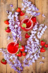 Glicine e fragole