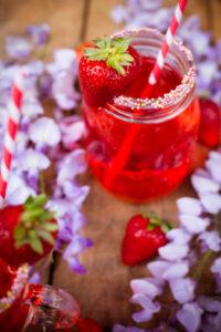 fragole e glicine